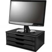 Suporte para Monitor 3GAVETAS 38X25X11 MDF BLACK PI
