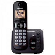 Telefone sem Fio com ID/SECRETARIA/VIVA VOZ KX-TGC220LBB Preto Panasonic