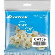 Tomada Keystone RJ45 Femea CAT5E KS101 Fortrek