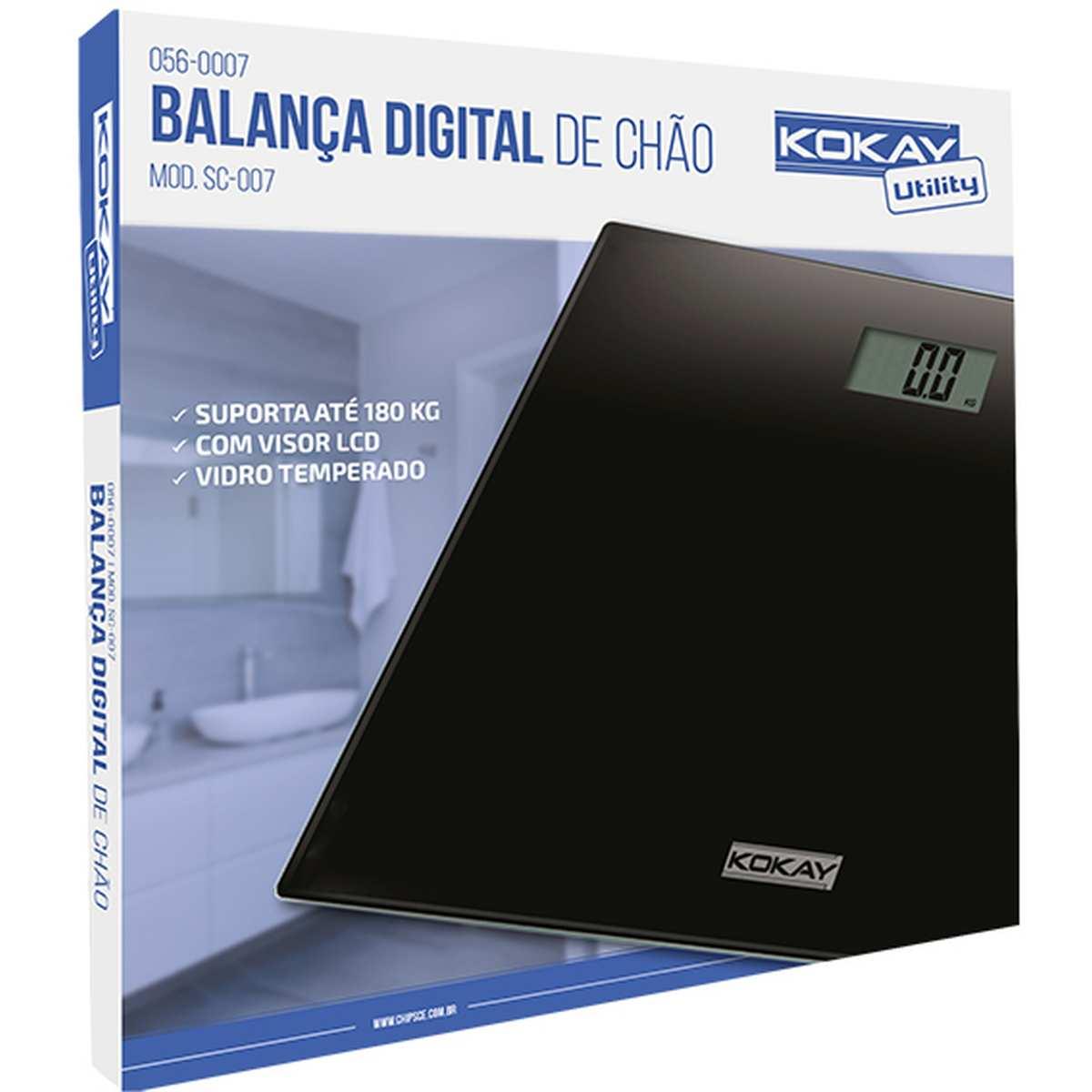 Balanca Eletronica Digital Kokay ATE 180KG Preta