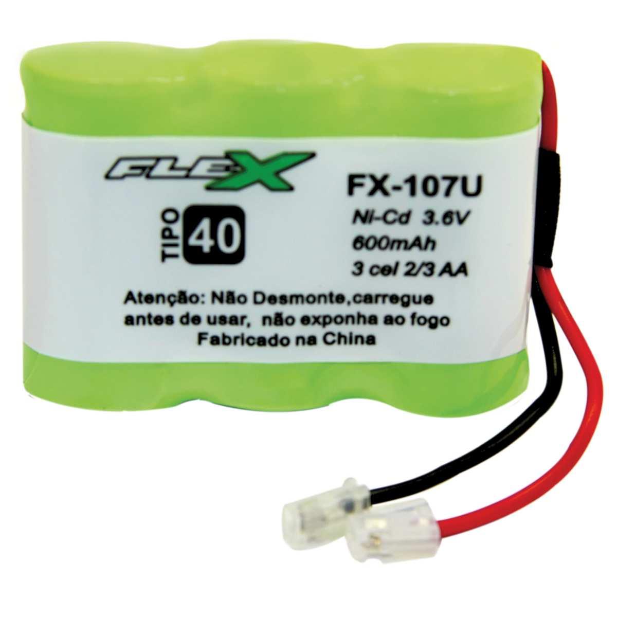 Bateria Telefone S/ Fio 3.6V 400MAH PLUG Univer