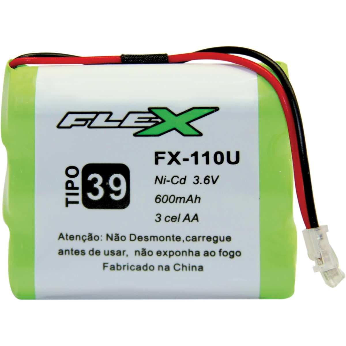 Bateria Telefone S/ Fio 3.6V 600MAH PLUG Univer