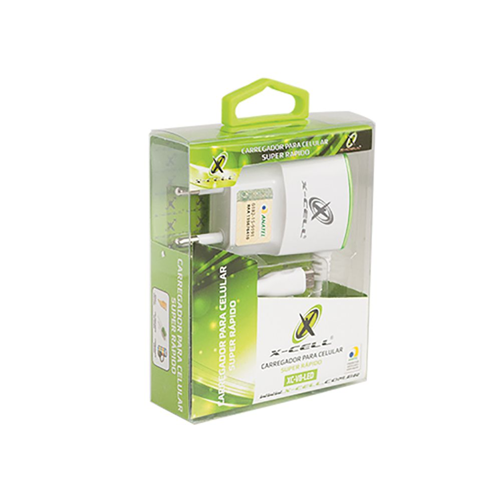 Carregador FLEX V8/MICRO USB 1A USB Anatel