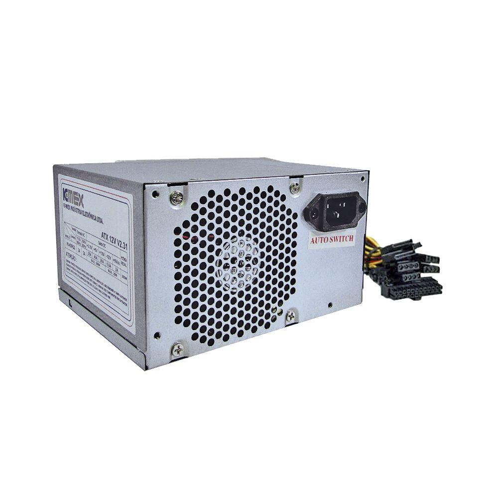 Fonte K-MEX Micro ATX/ ITX 300W com Cabo Cooler PX450RQG (000003198094)