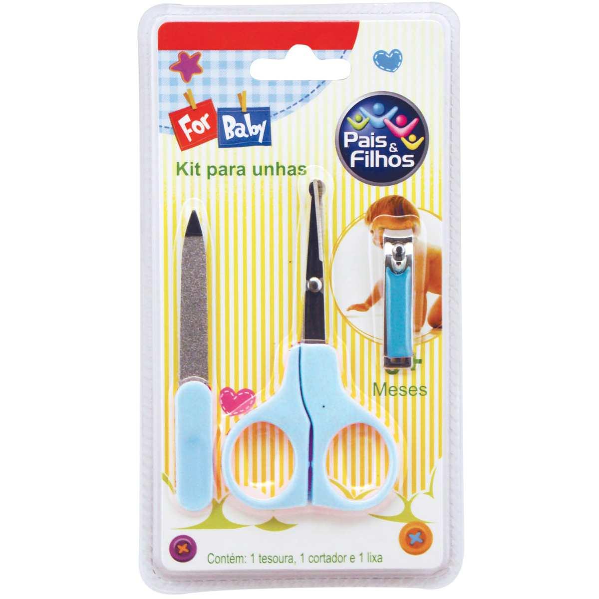 Linha Classic(higiene Pessoal) KIT Infantil P/UNHAS AZUL