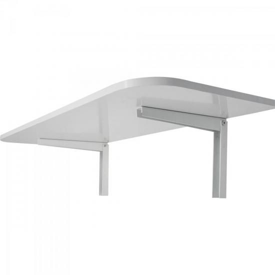 Mesa Dobravel para Cozinha com Suporte em MDP 100X50CM Branca Multivisao