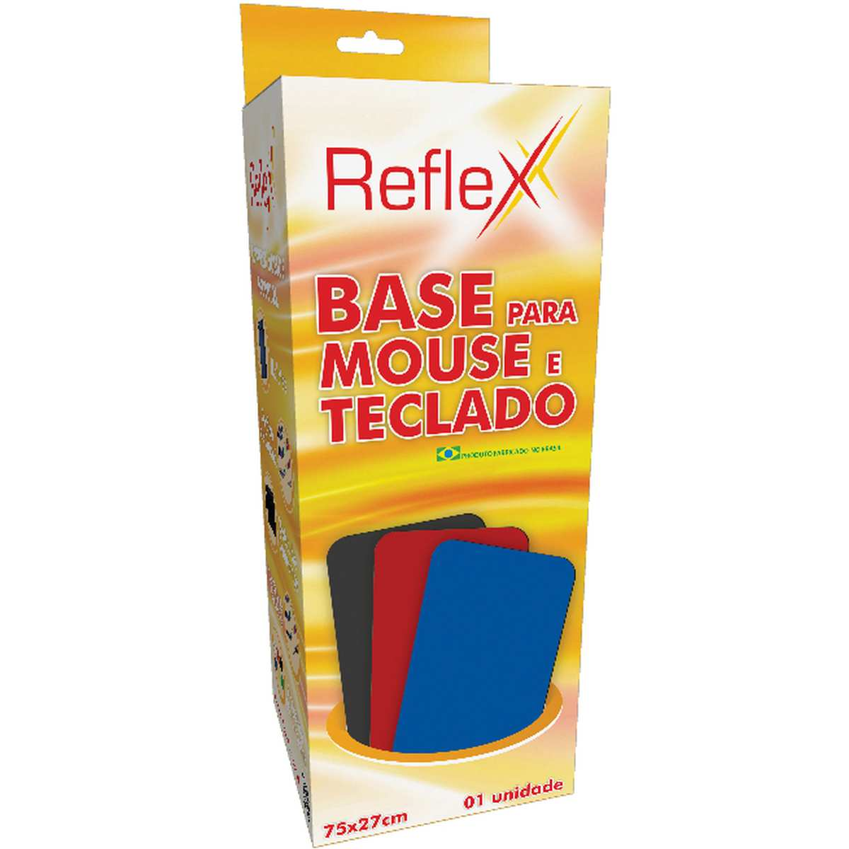 Mouse PAD P/TECLADO/MOUSE Preto 75X27CM