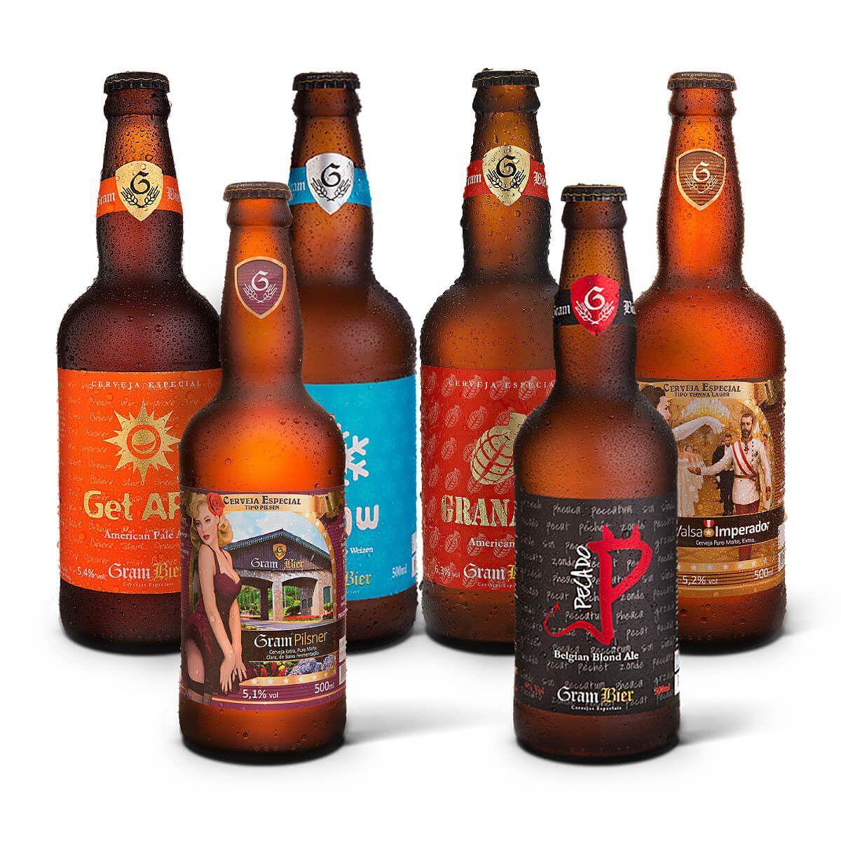 Kit degustação Gram Bier 6 cervejas
