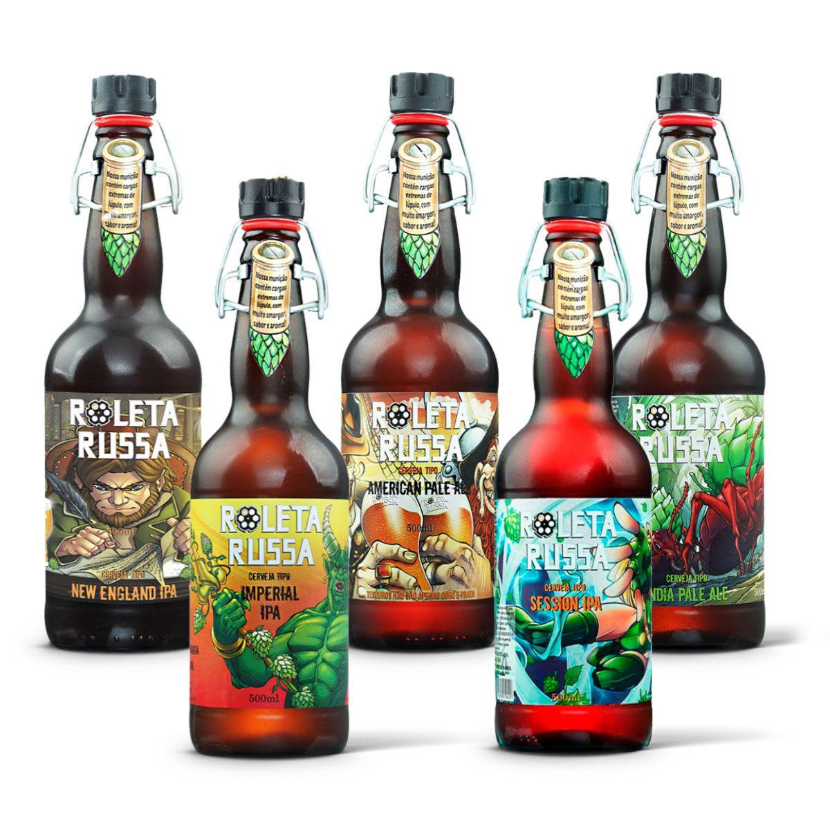 Kit degustação Roleta Russa 5 cervejas
