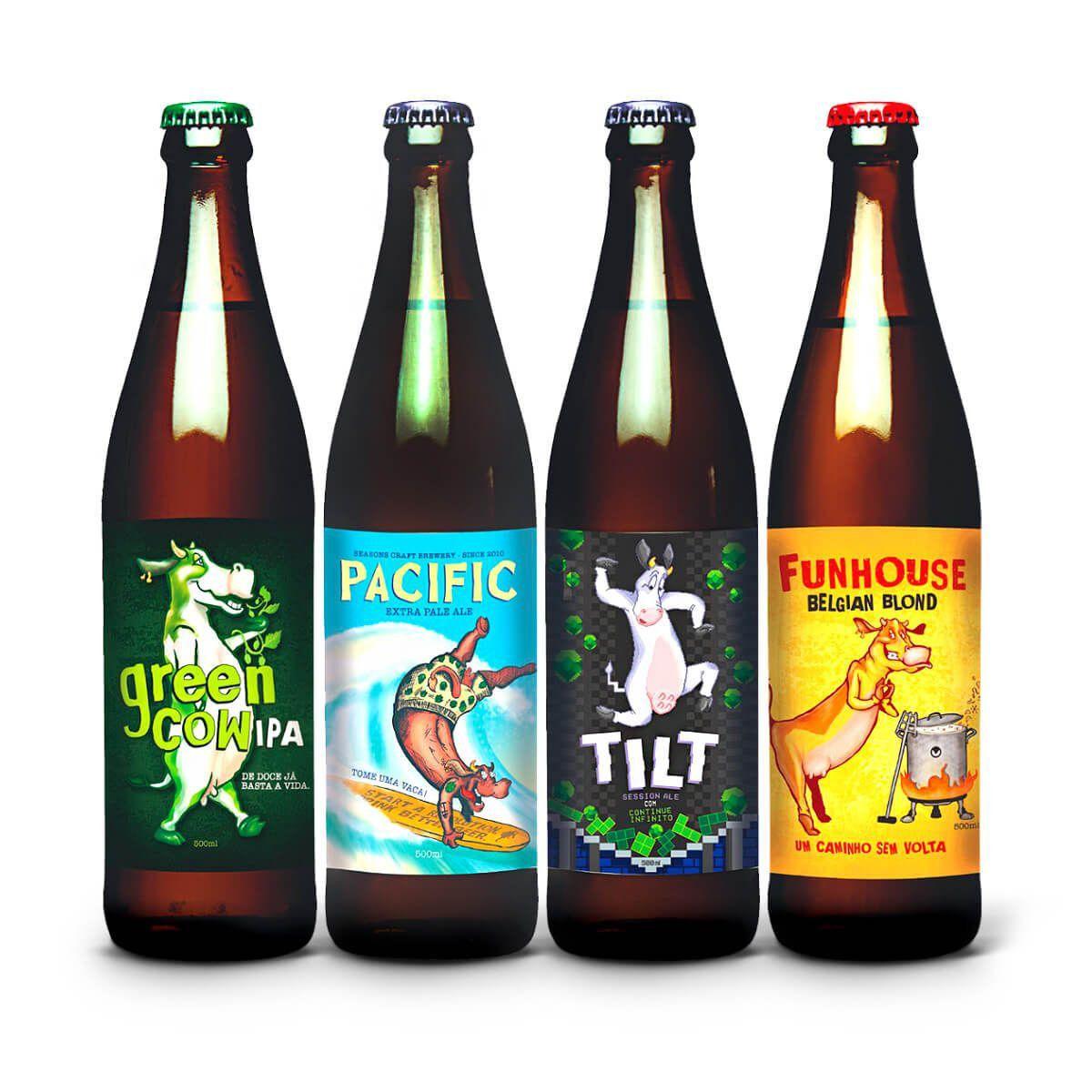 Kit degustação Seasons 4 cervejas Vivas