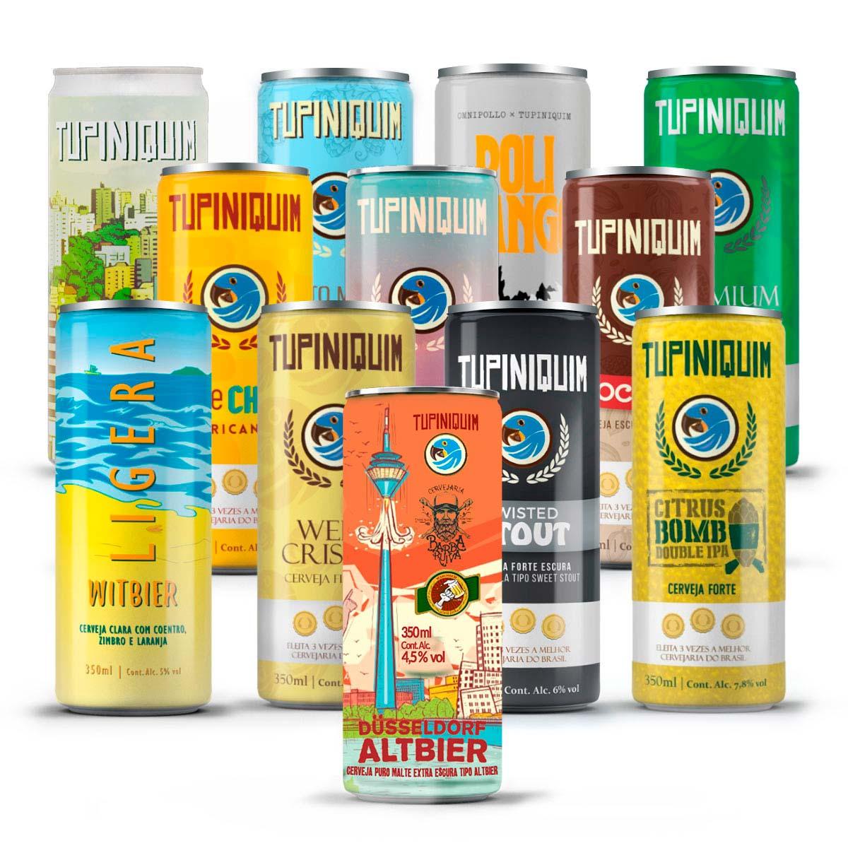 Kit degustação Tupiniquim 12 cervejas mix lata