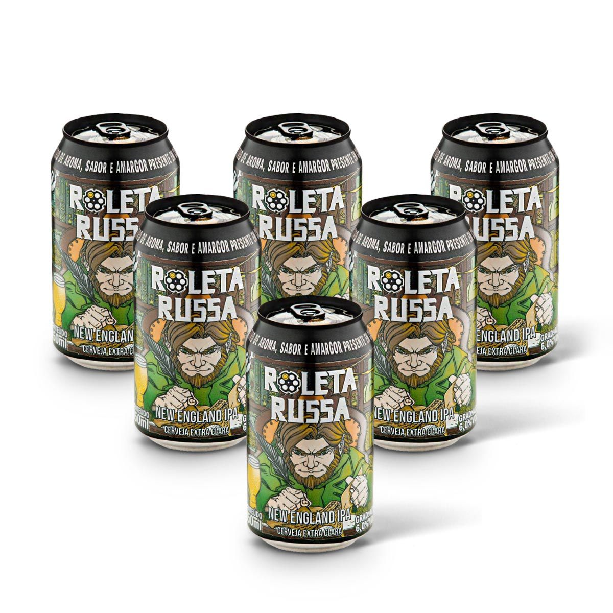 Pack Roleta Russa New England IPA 6 latas 350ml