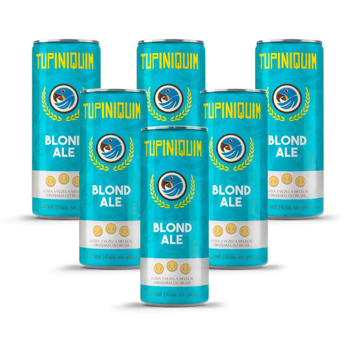 Pack Tupiniquim Blond Ale 6 latas 350ml