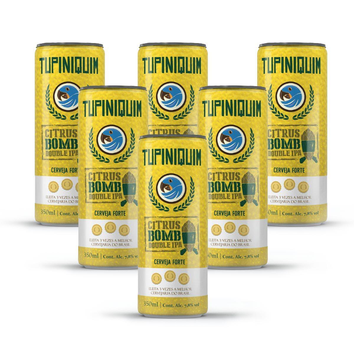 Pack Tupiniquim Citrus Bomb Double IPA 6 latas 350ml