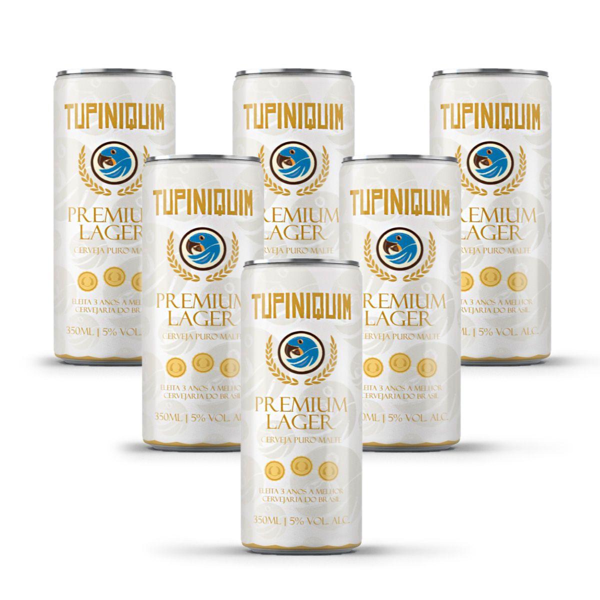 Pack Tupiniquim Premium Lager 6 latas 350ml