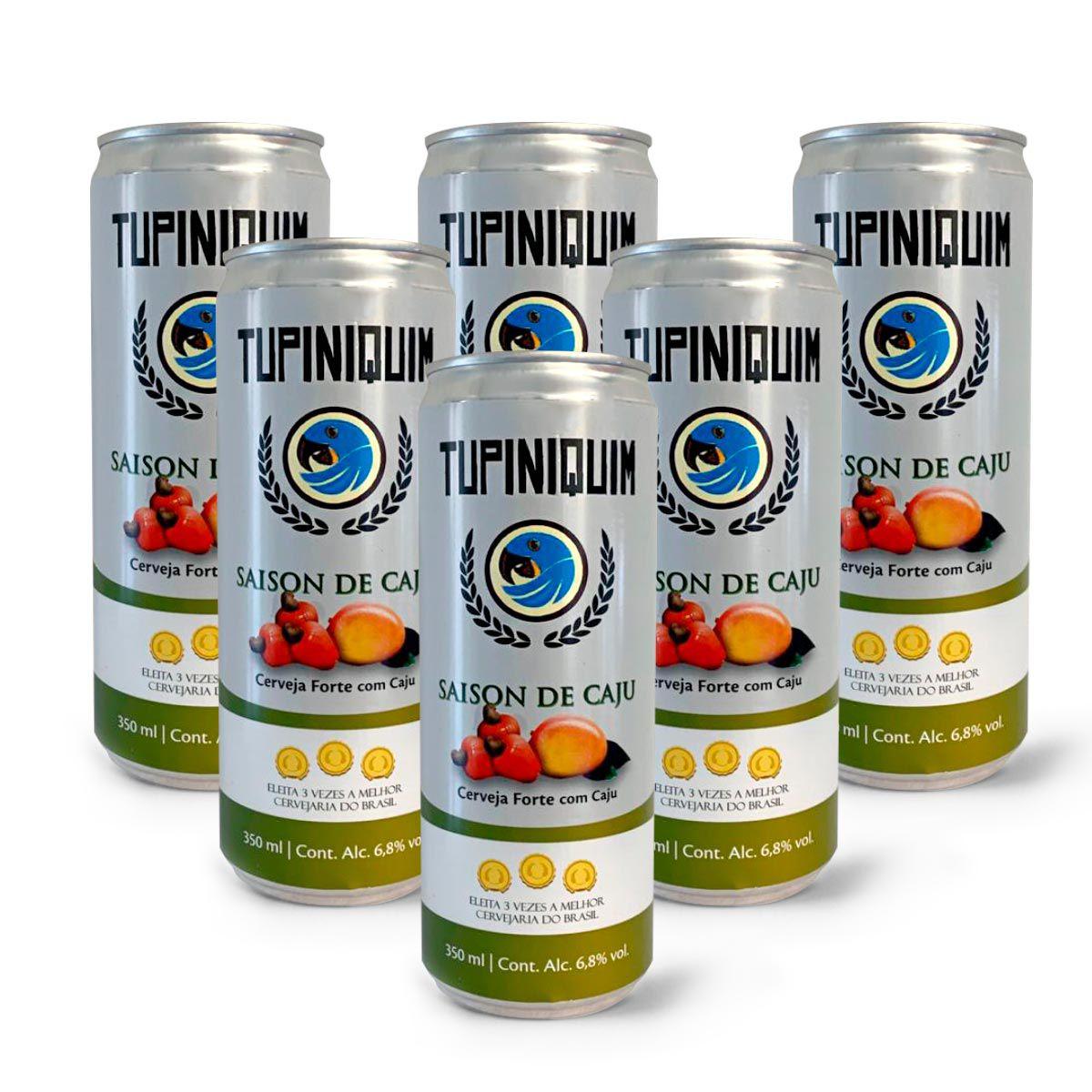 Pack Tupiniquim Saison Cajú 6 latas 350ml