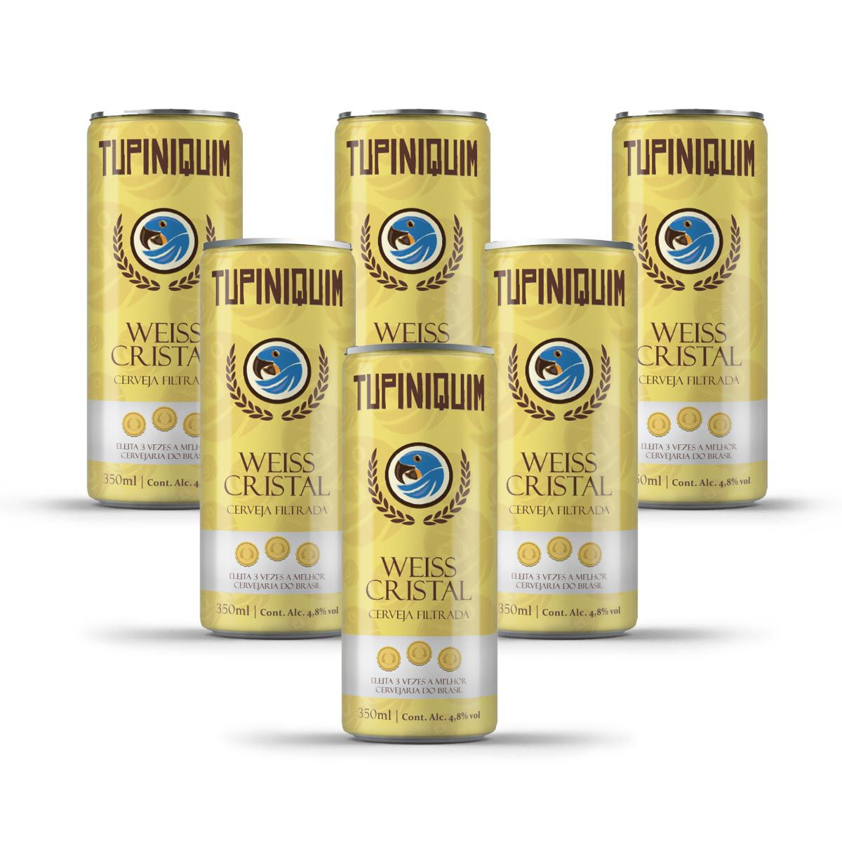 Pack Tupiniquim Weiss Cristal 6 latas 350ml