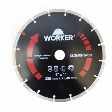"DISCO DIAMANTADO SEGMENTADO 9"" WORKER"