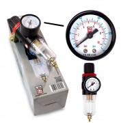 Filtro De Ar E Lubrificante Fa07 Conexão 1/4 Pol. V8