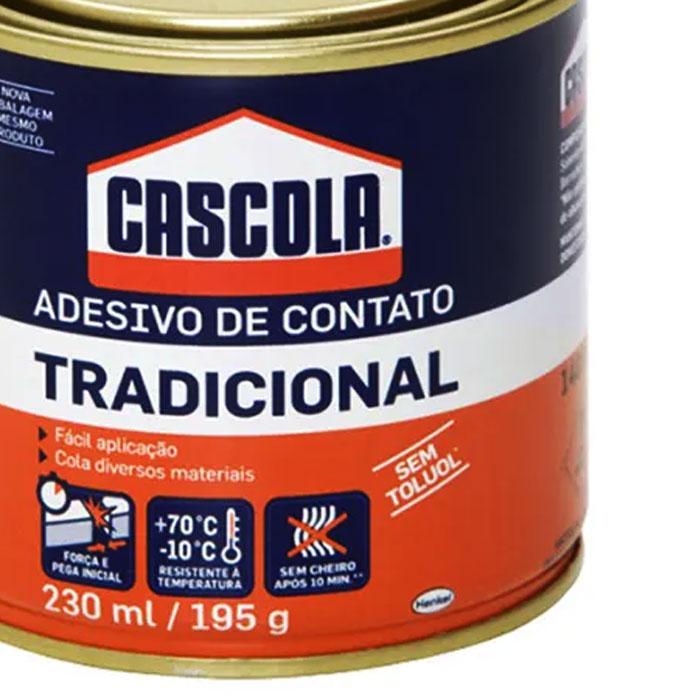 ADESIVO DE CONTATO TRADICIONAL 195G CASCOLA
