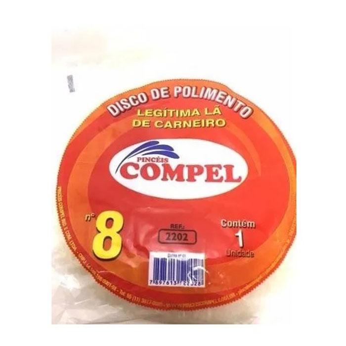 "BOINA DE LÃ PARA POLIMENTO 8"" COPEL"