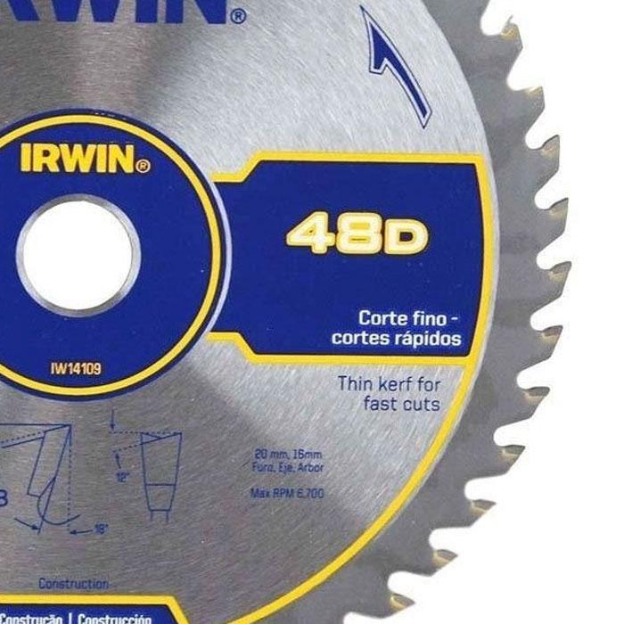 DISCO PARA SERRA CIRCULAR 7.1/4 48 DENTES IRWIN