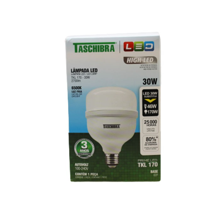 LÂMPADA DE LED 6500K 30W TKL 170 TASCHIBRA