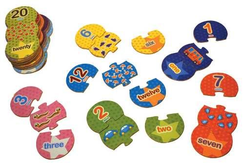 Brinquedos Educativos  Números e Quantidades em Inglês 60und
