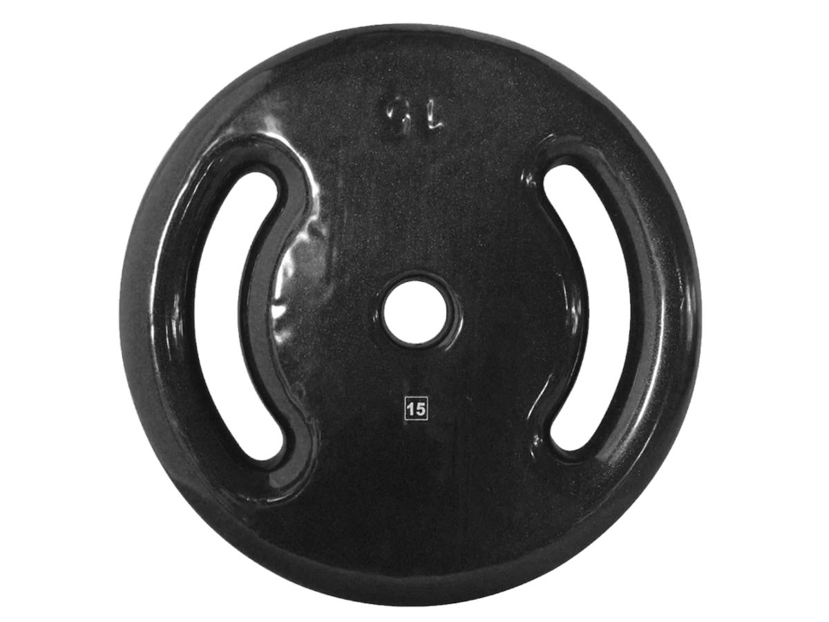 Anilha Ferro Fundido Emborrachada Fitness Academia 15,0 Kg