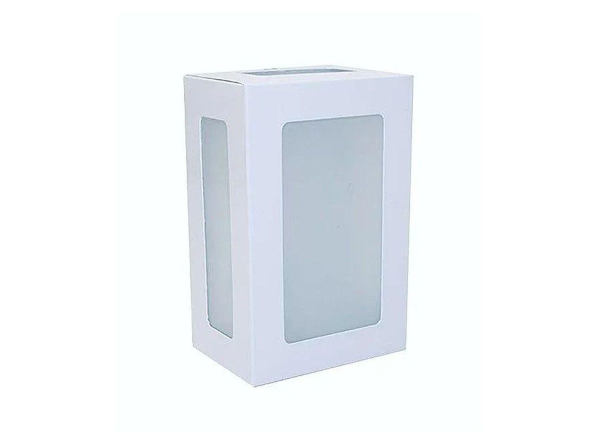 Arandela Externa Interna Jade de Parede Alumínio e Vidro