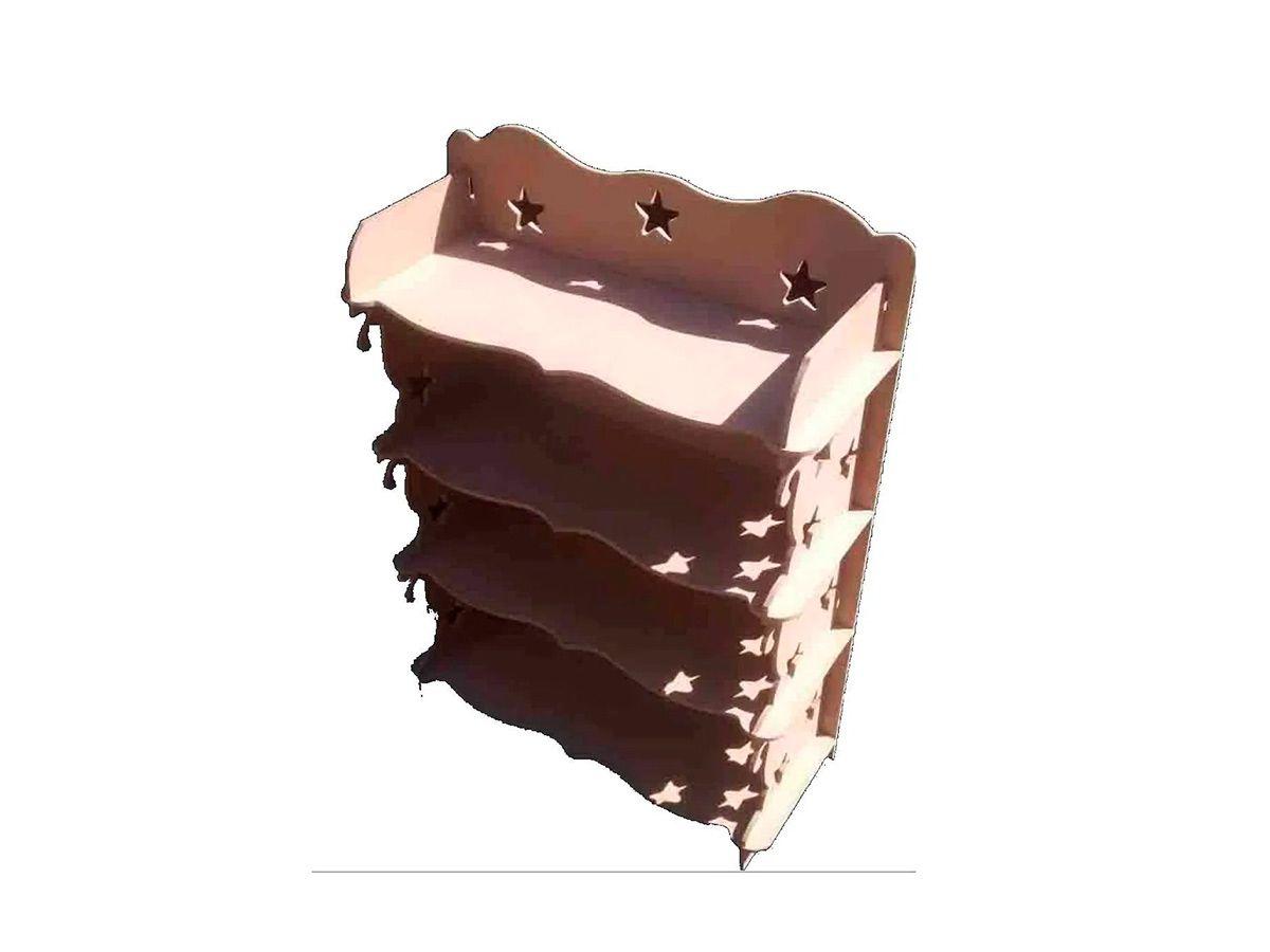 Armário de Chão em Mdf Cru Provençal 68,5cm