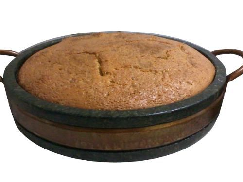Assadeira de Pedra Sabão com Alça de Cobre  29,0 Cm