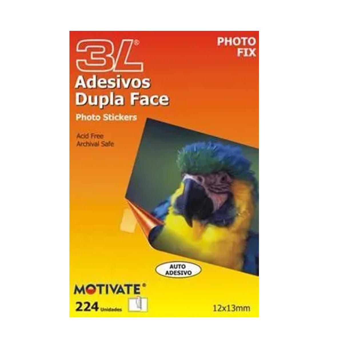 Auto Adesivo Dupla Face Photo Fix - Blister com 224 Adesivos