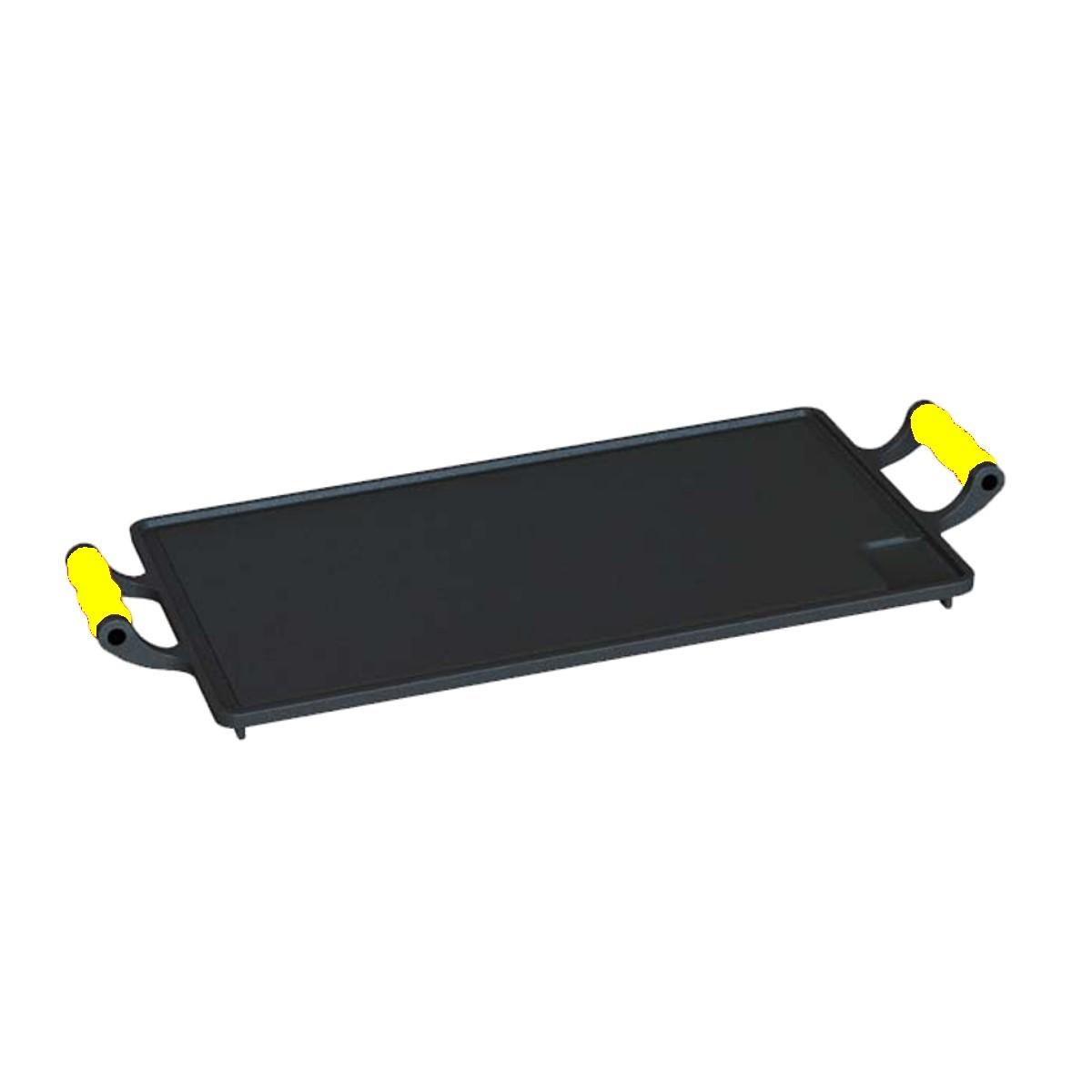 Bifeteira com alças de silicone Amarelo 28x46cm