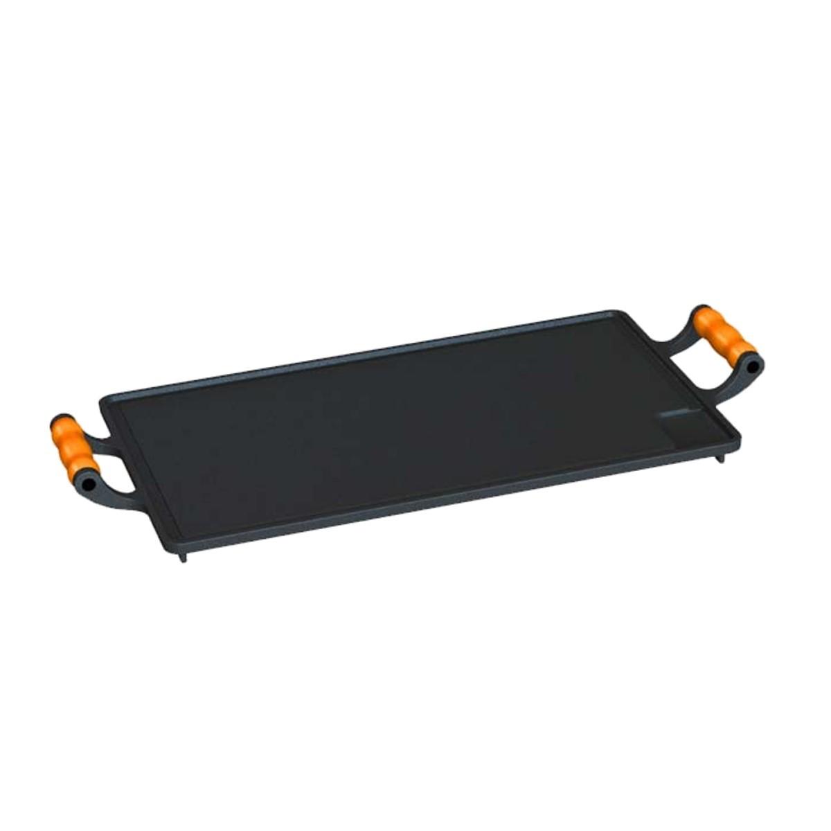 Bifeteira com alças de silicone Laranja 28x46cm