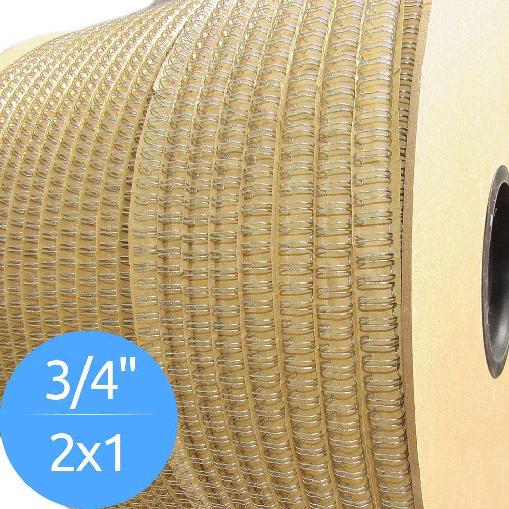 Bobina de Garras de Duplo Anel Wire-o 2x1 3/4 140 Folhas Cor Prata