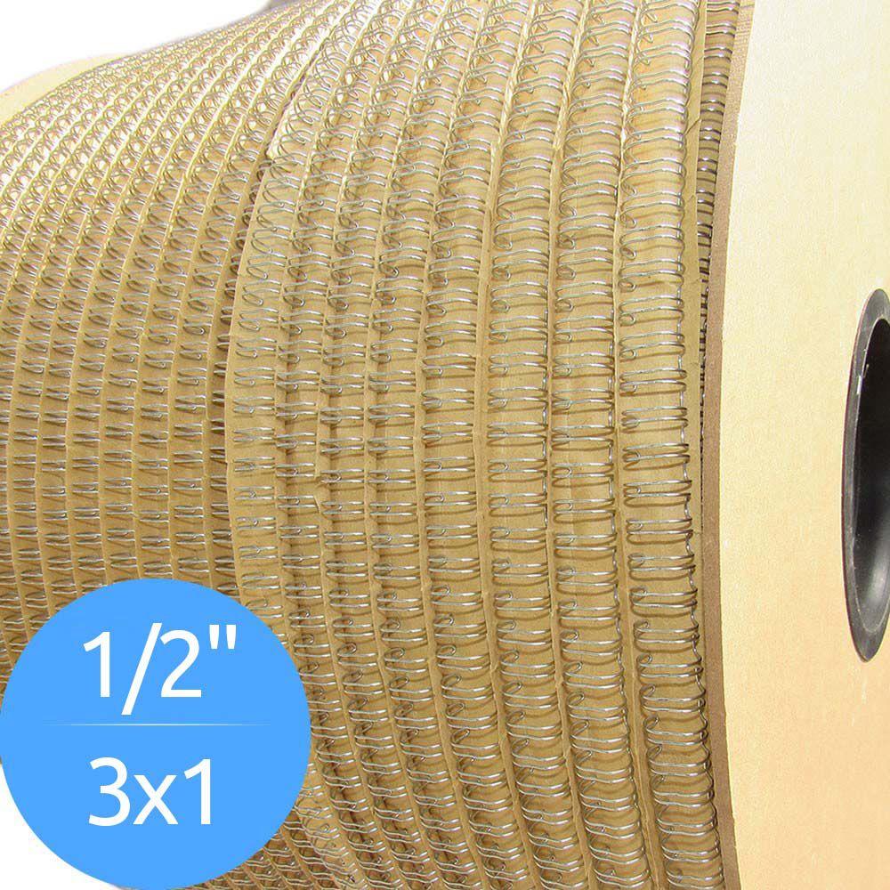 Bobina de Garras de Duplo Anel Wire-o 3x1 1/2 100 Folhas Cor Prata