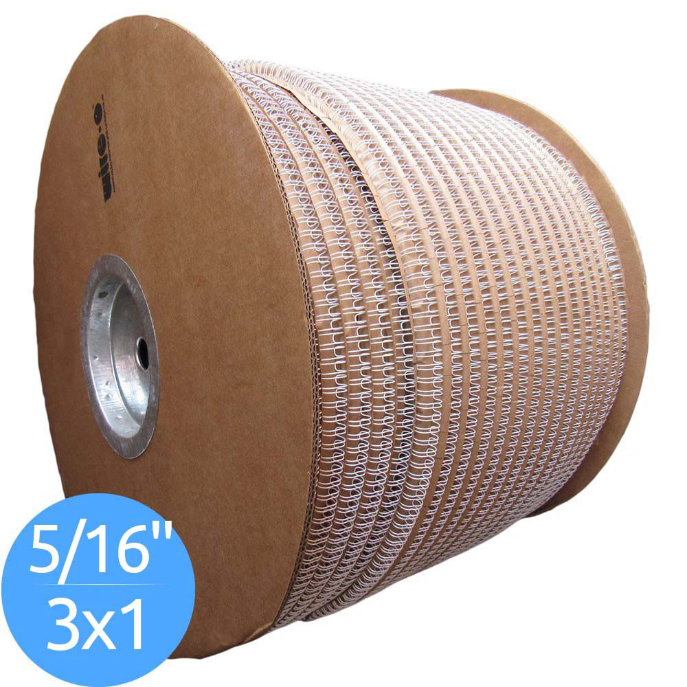 Bobina de Garras de Duplo Anel Wire-o 3x1 5/16 50 Folhas Cor Branca