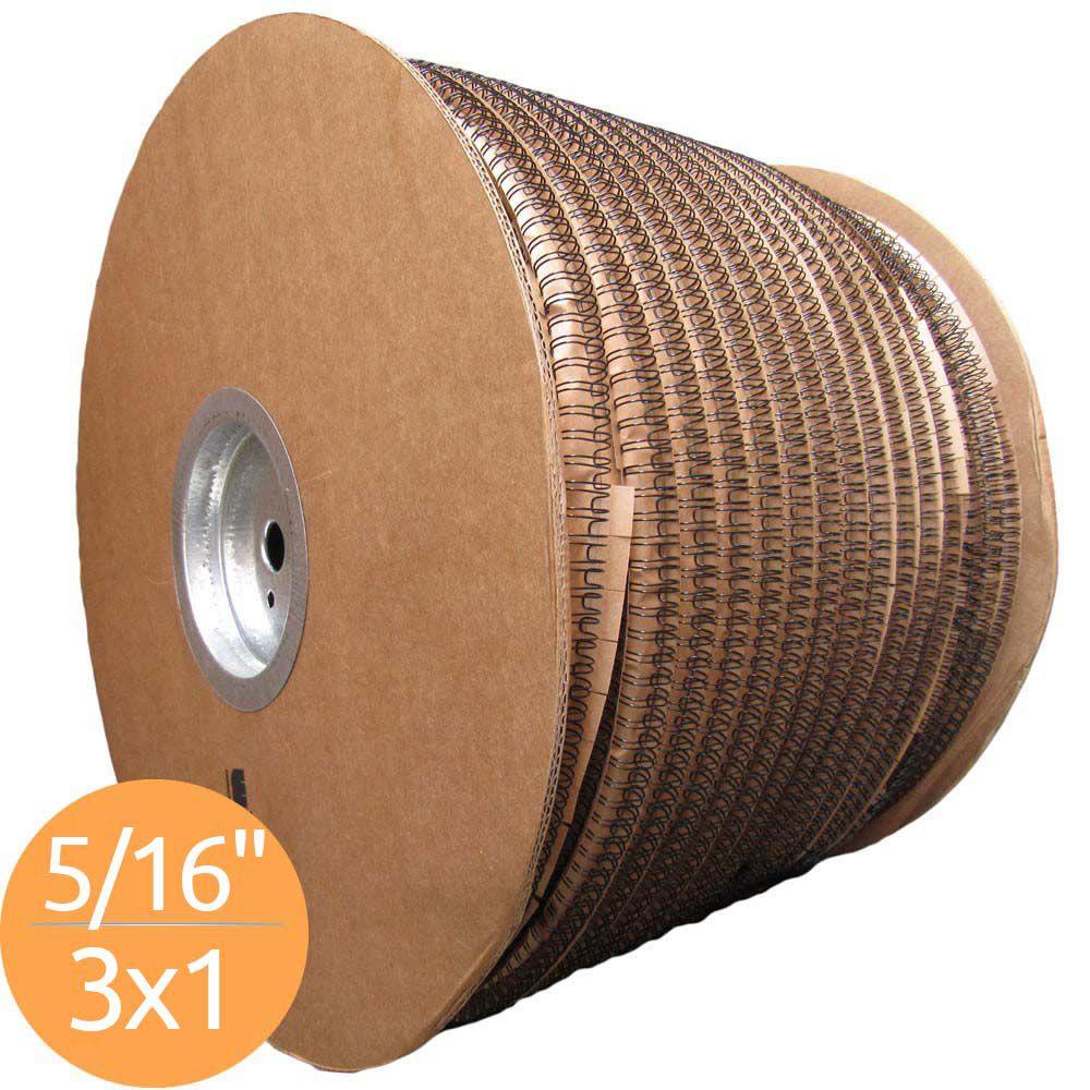 Bobina de Garras de Duplo Anel Wire-o 3x1 5/16 50 Folhas Cor Preta