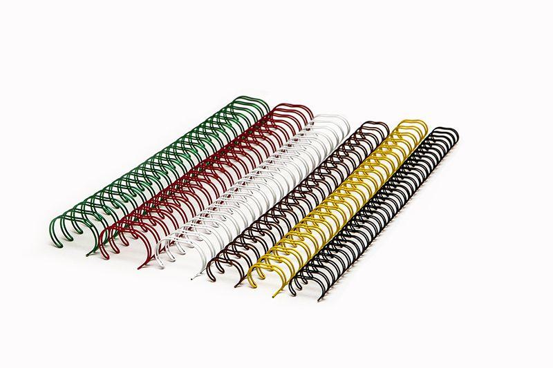 """Bobina de Garras de Duplo Anel Wire-o 2x1 1"""" 200 Folhas Cor Preta"""