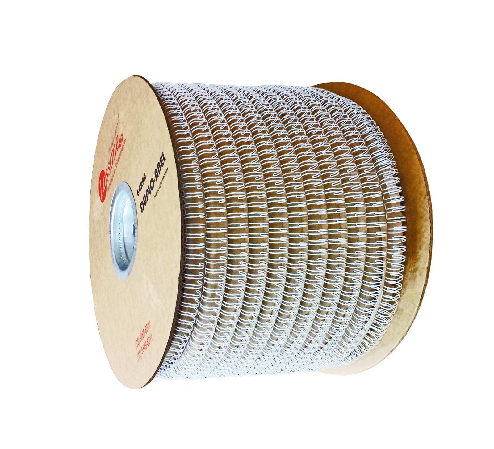Bobina de Garras de Duplo Anel Wire-o 2x1 7/8 180 Folhas Cor Prata