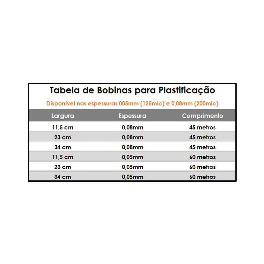 Bobina Polaseal para Plastificação A3  0,05mm 60 Metros