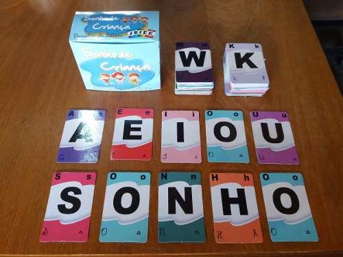 Brinquedo Pedagógico Jogo Baralho de Letras 145 unidades