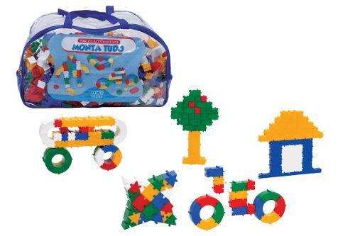 Brinquedo Pedagógico Peças De Encaixe Monta Tudo 1000 Peças