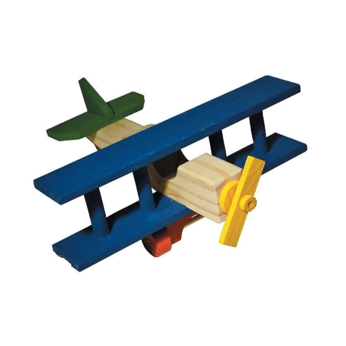 Brinquedos  - Avião De Madeira 30x31x12cm