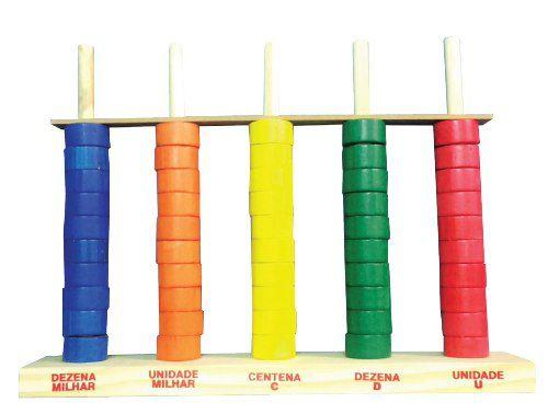 Brinquedos Educativos - Ábaco Aberto 50 Argolas