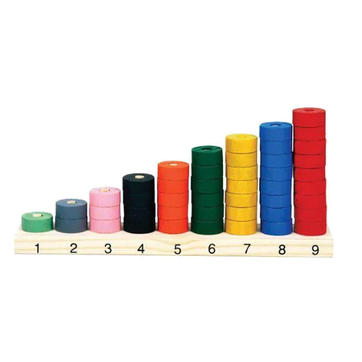 Brinquedos Educativos - Ábaco de Seriação 45 Peças