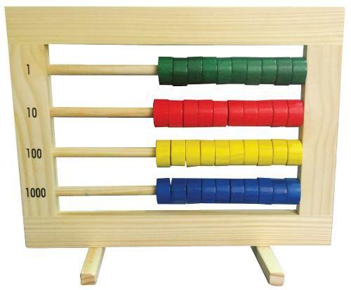 Brinquedos Educativos - Ábaco Fechado 40 Contas Coloridas