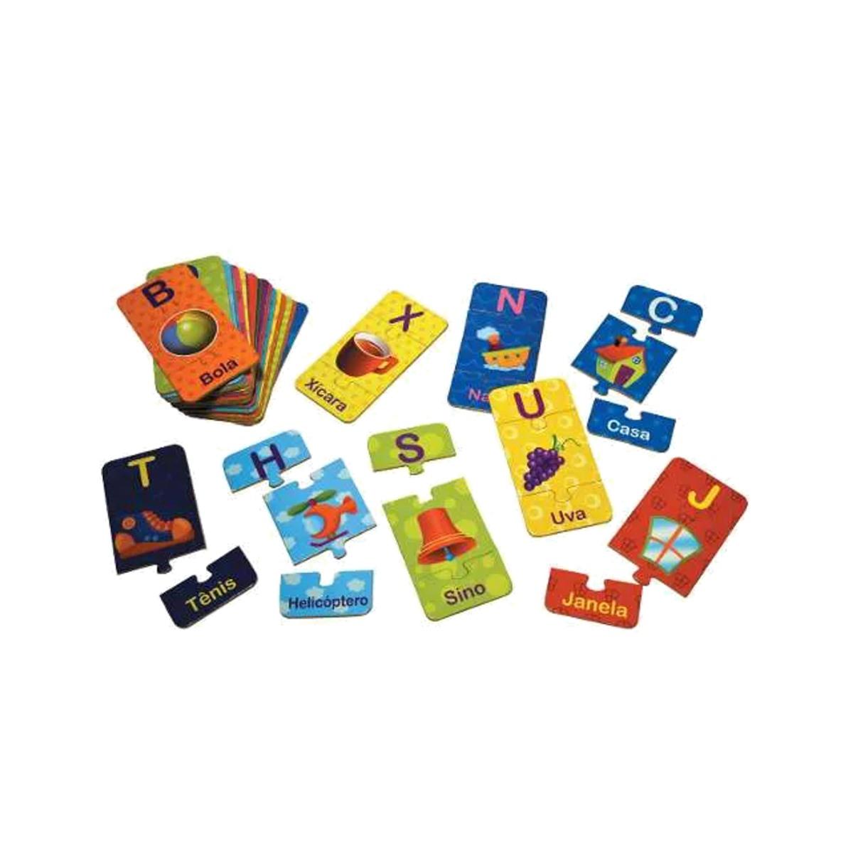 Brinquedos Educativos - Alfabeto Ilustrado 78 Peças