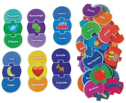 Brinquedos Educativos Alfabeto Ilustrado em Espanhol 54 Und